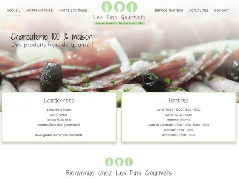Les Fins Gourmets_Isère_nouveau site internet_Traiteur charcutier