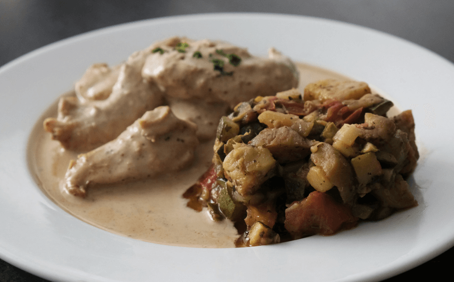 Les Fins Gourmets_Traiteur Vinay_ plats cuisinés_ Viande blanche_Ratatouille